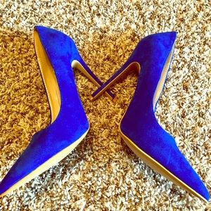 Shoe Republic LA Blue Suede Pumps